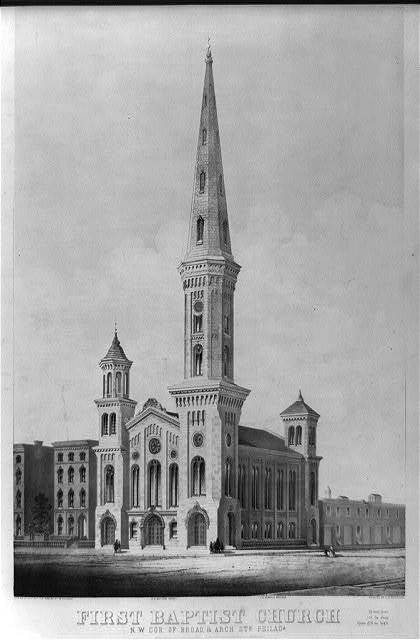 First Baptist church, N.W. cor. of Broad & Arch Sts. Philada.