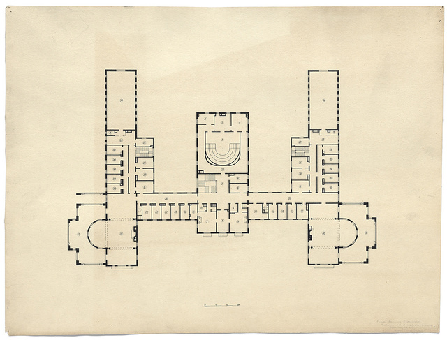 [Government Hospital for the Insane (Saint Elizabeths Hospital), Washington, D.C. Women's building. Second floor plan]