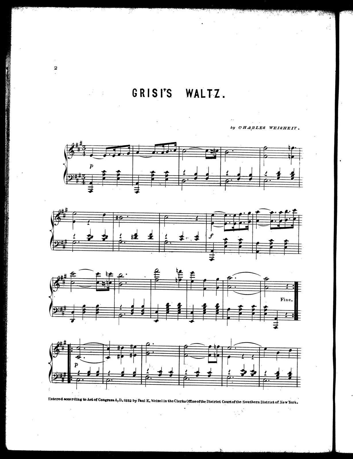 Grisi's waltz