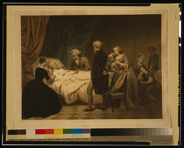 Life of George Washington The Christian death / / painted by Stearns ; lith. by Régnier, imp. Lemercier, Paris.