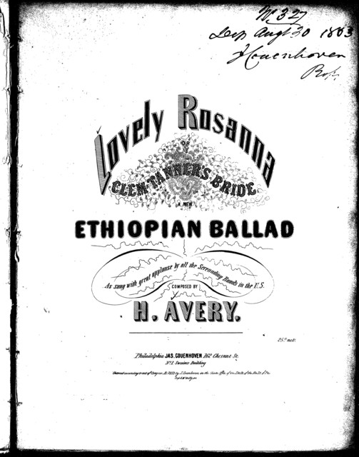 Lovely Rosanna, Clem Tanner's bride, a new Ethiopian ballad