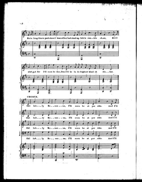 Lovely Rosanna, or, Olem Tanner's bride, a new Ethiopian ballad