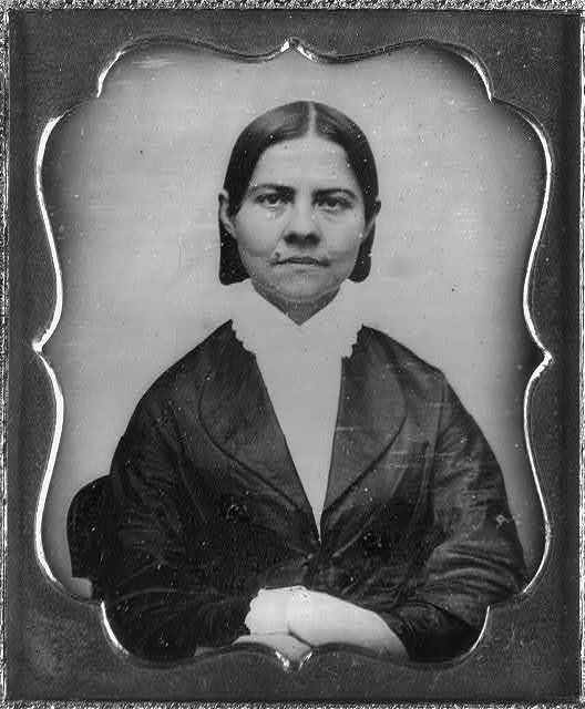 [Lucy Stone, head-and-shoulders portrait of a woman, facing front]