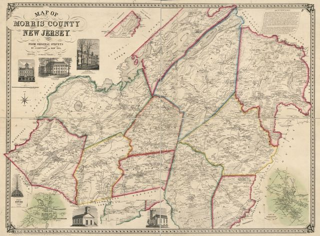 Map of Morris County, New Jersey : from original surveys /