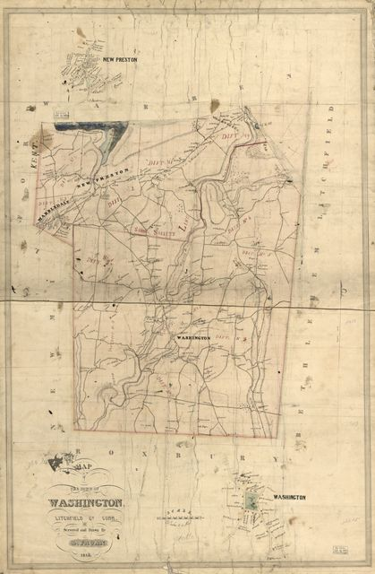 Map of the town of Washington, Litchfield Co., Conn. /