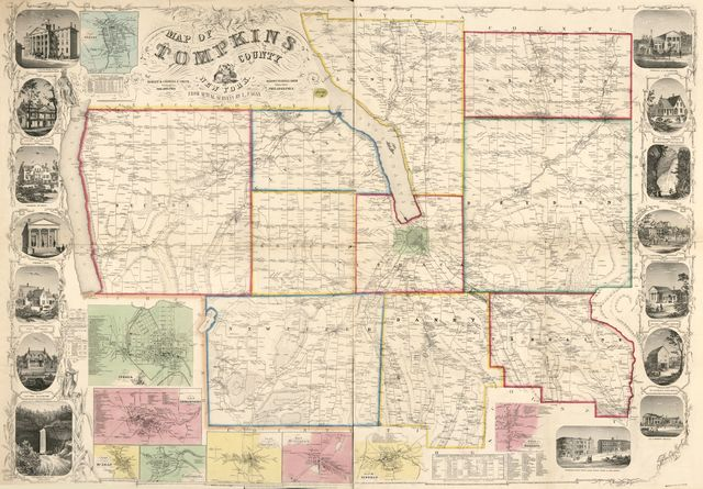 Map of Tompkins County, New York : from actual surveys /