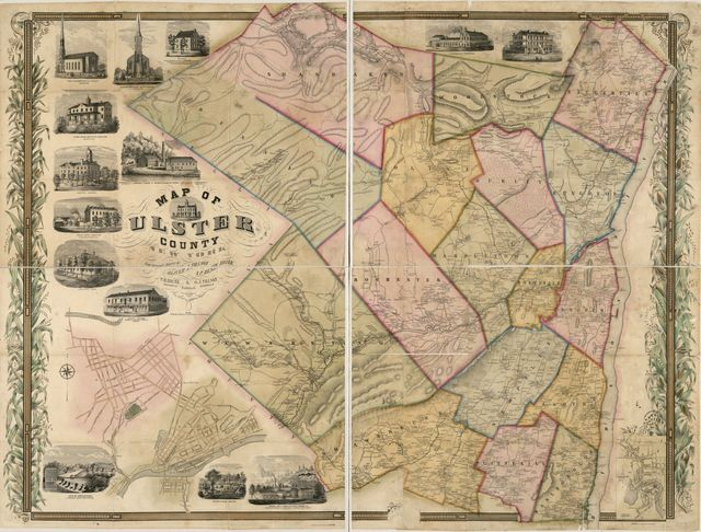 Map of Ulster County, New York : from original surveys /