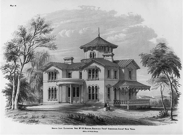 North east elevation for No. III design, Charles Fredk. Anderson Archt. New York