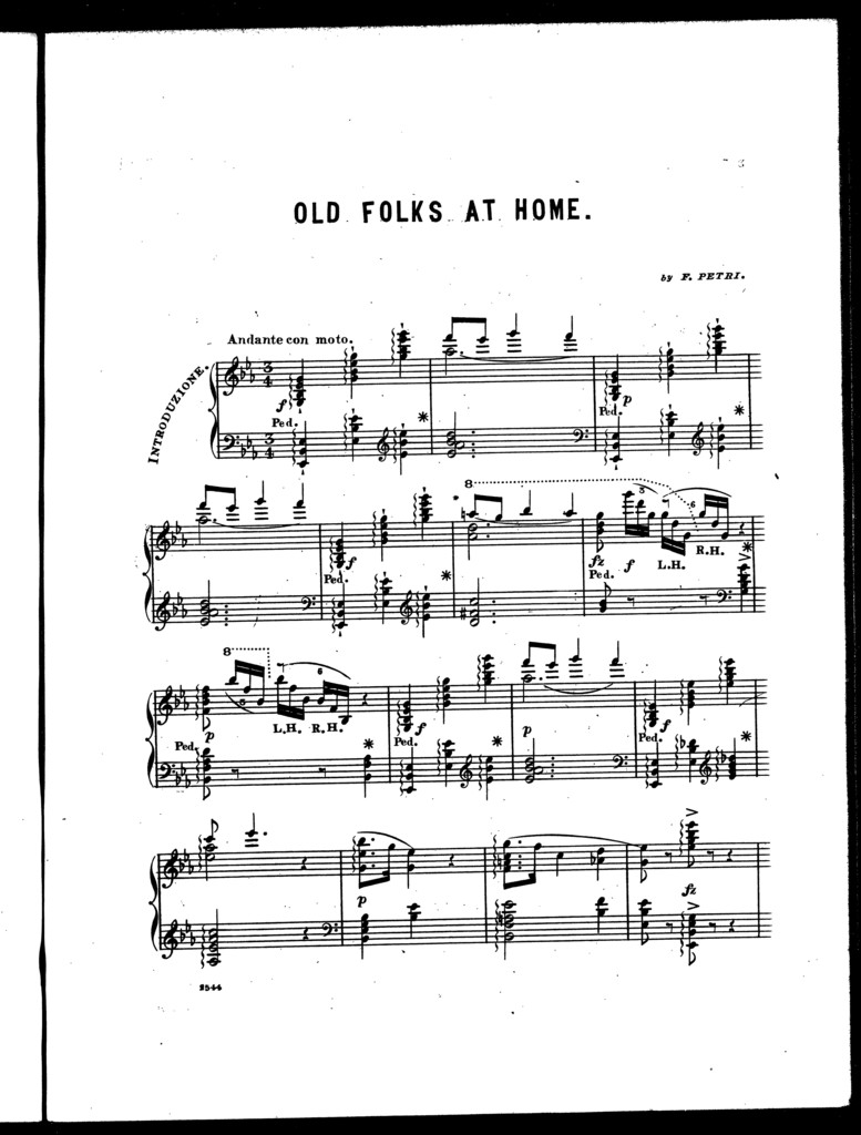 Old folks at home, introduction and brilliant variations