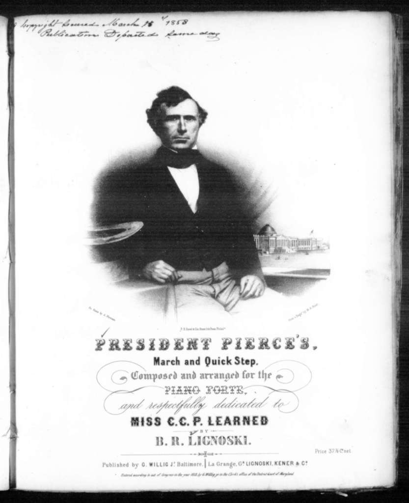 President Pierce's march and quick step