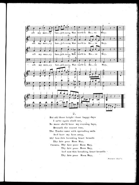 Rosa May, ballad