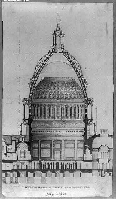 Section through dome of U.S. Capitol