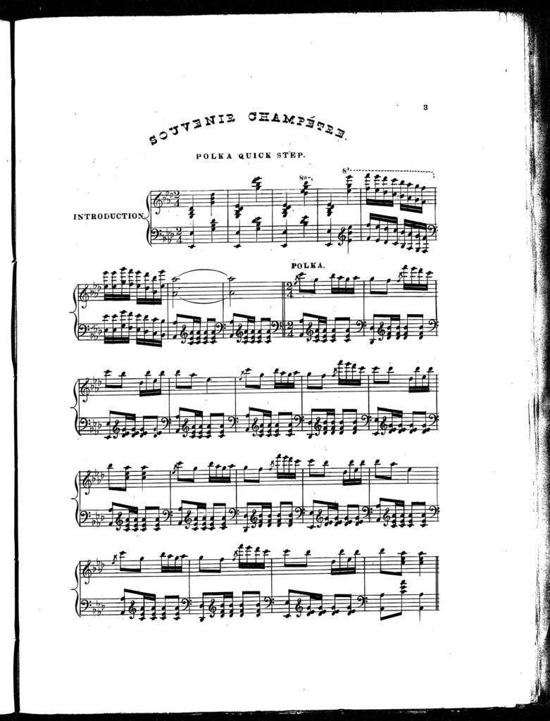 Souvenir Champt̊re, a polka quick step