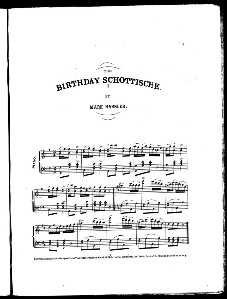 The  birthday schottische
