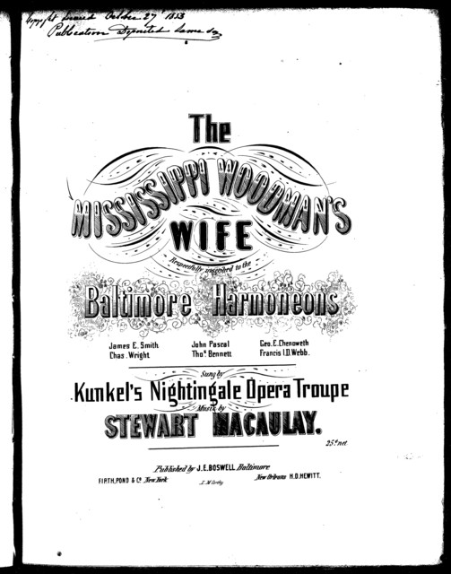 The  Mississippi woodman's wife