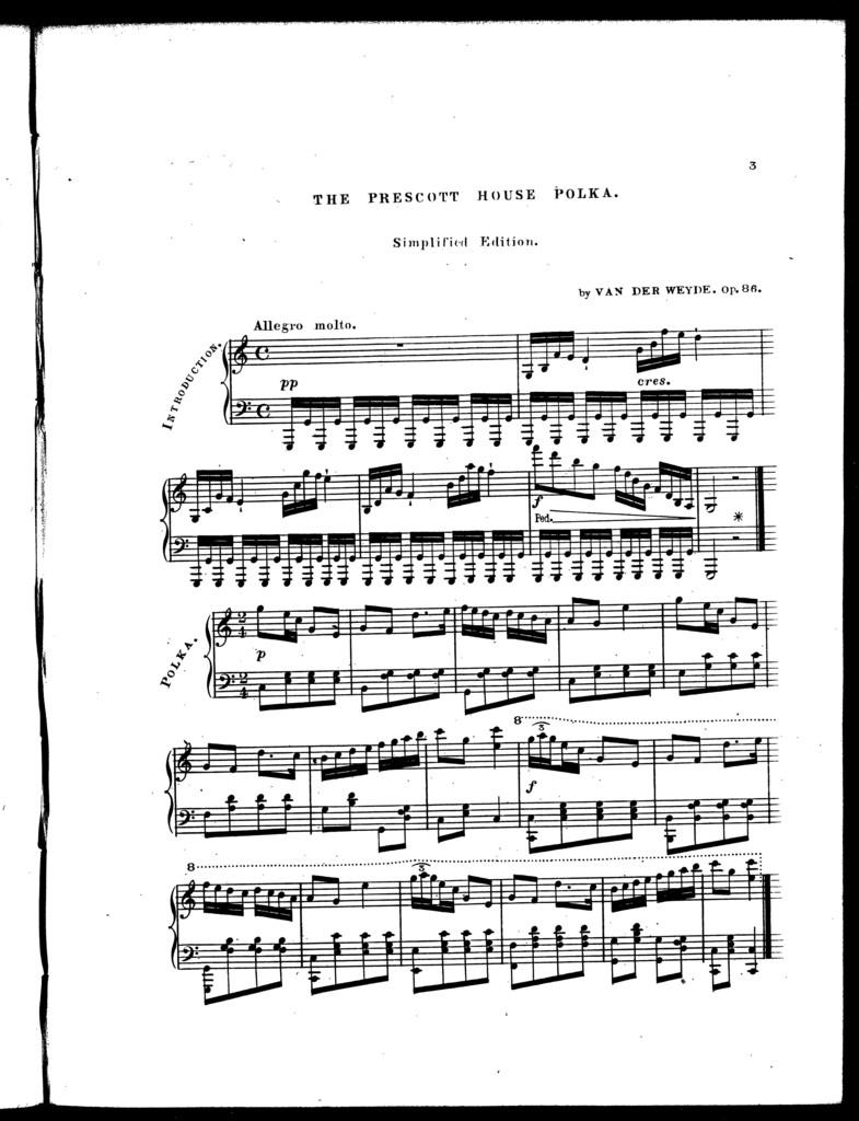 The  Prescott house polka, simplified edition, op. 86