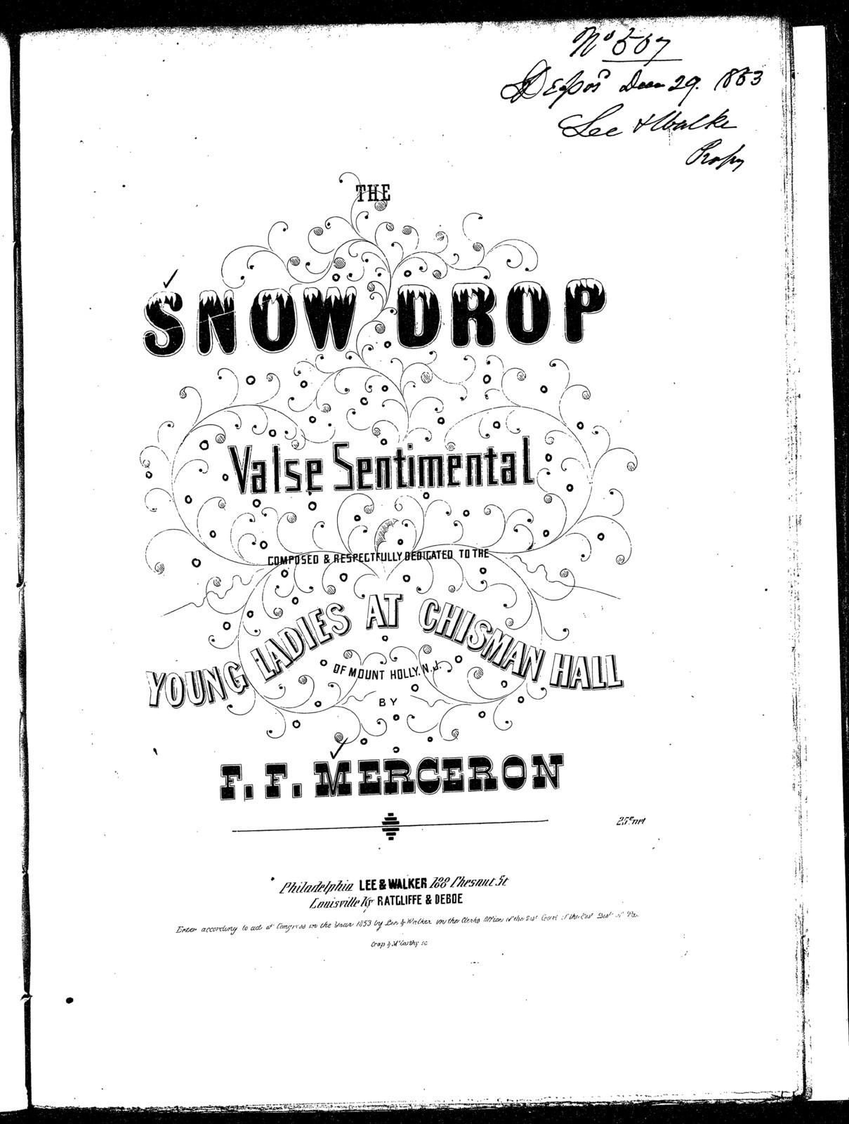 The  snow drop, valse sentimental