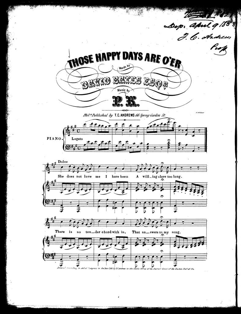 Those happy days are o'er