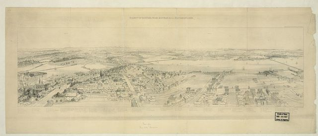 Vicinity of Boston, from Bunker Hill monument, 1853 / engraved by James Smillie.