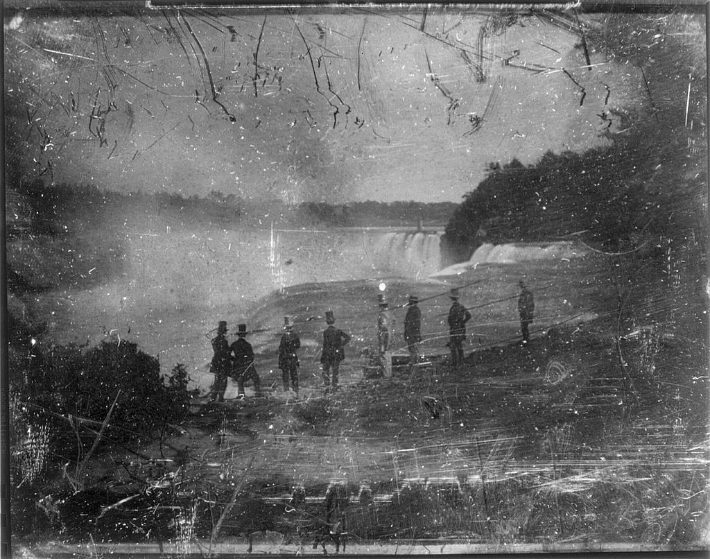 [View of Niagara Falls, reversed view]