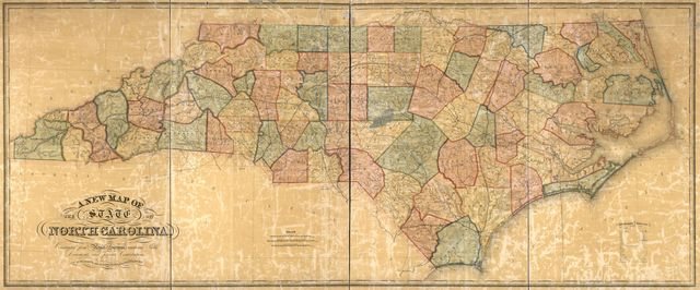 A new map of the state of North Carolina : constructed from actual surveys, authentic public documents and private contributions. /