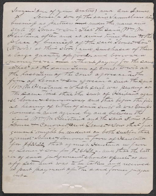 Bill for Injunction in Sconce & Conover v. Hiestand & Probst, [Law papers].