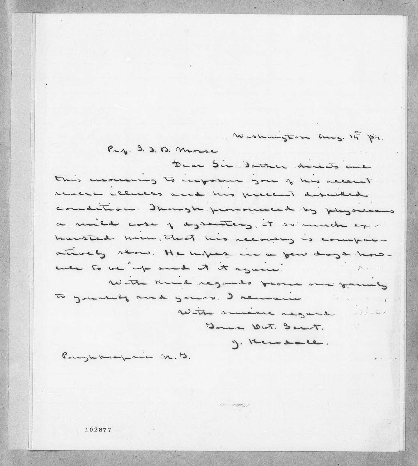 Bound volume---12 August 1854-22 June 1855