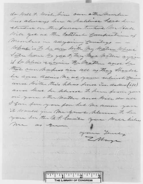 Charles Hoyt to Abraham Lincoln, Monday, November 20, 1854  (Senate)