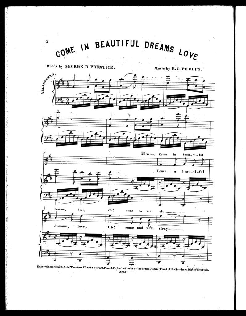 Come in beautiful dreams love