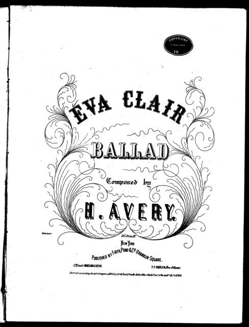 Eva Clair, ballad