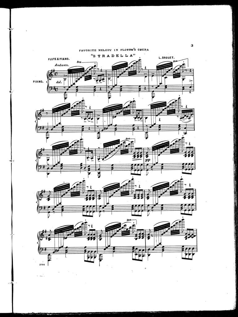 "Favorite melody in Flotow's opera ""Stradella"""