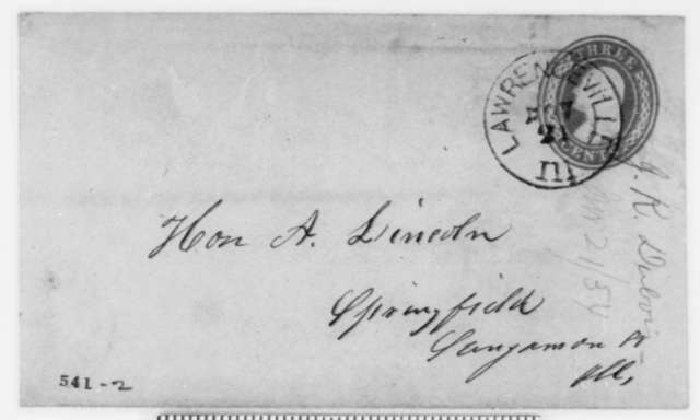 Jesse K. Dubois to Abraham Lincoln, Tuesday, November 21, 1854  (Senate)