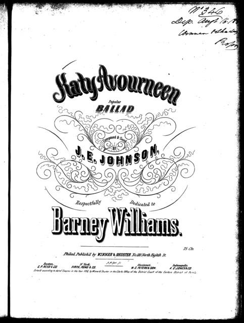 Katy Avourneen, ballad