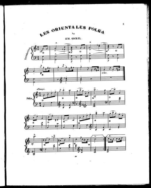 Les  Orientales polka