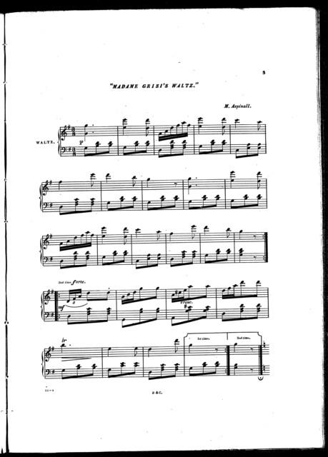 Madame Grisi's waltz
