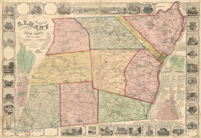 Map of Albany County, New York : from actual surveys /