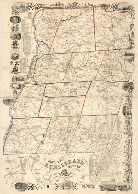 Map of Rensselaer County, New York : from actual surveys /
