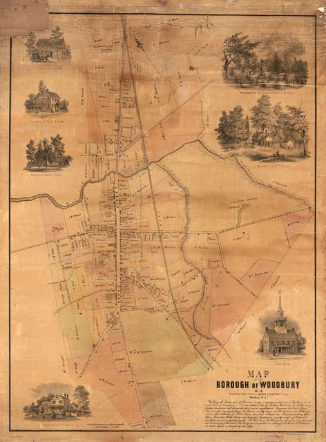 Map of the borough of Woodbury, N.J. /