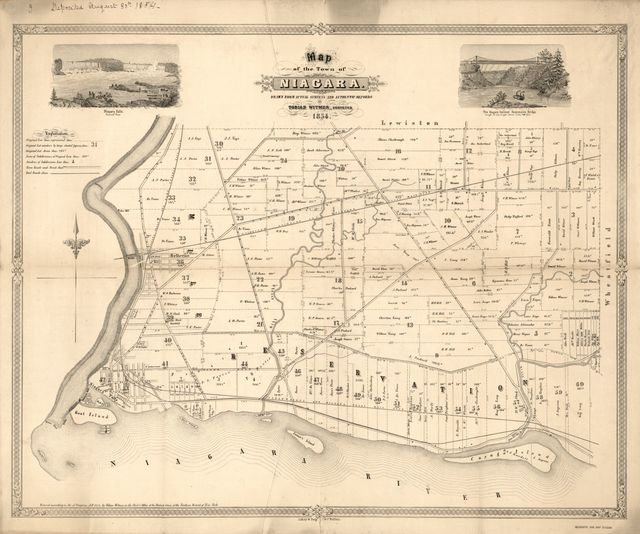 Map of the town of Niagara /