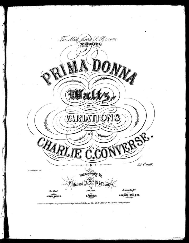Prima donna waltz, with variations