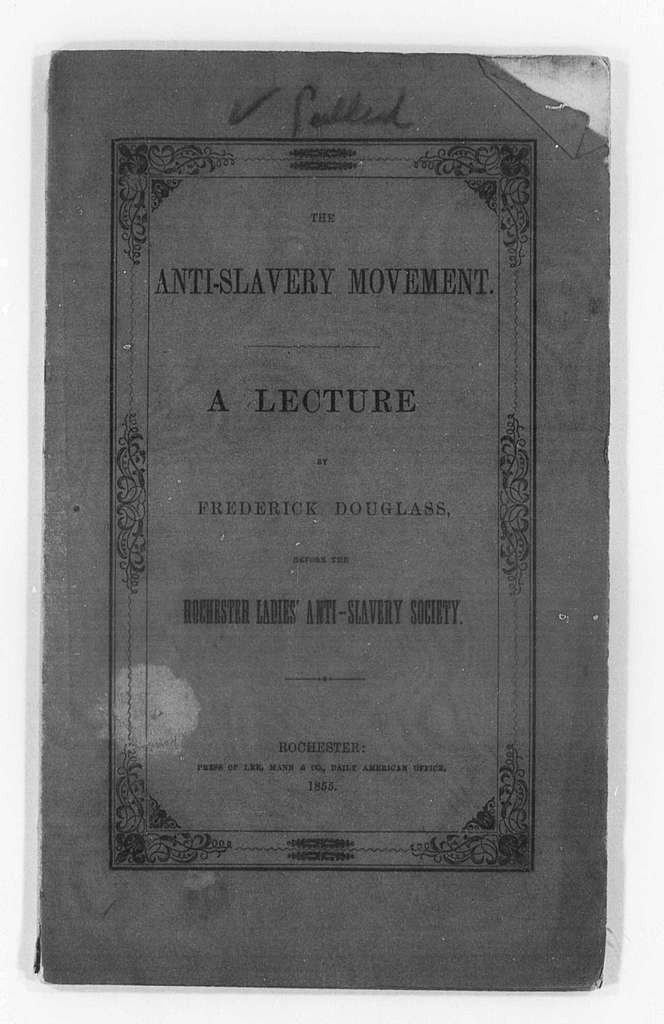 Printed Speeches (by Douglass), 1854-1855