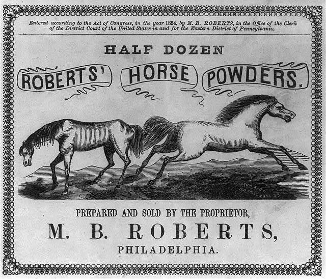 Roberts' Horse Powders
