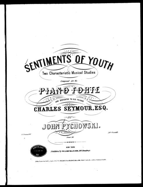 Sentiments of youth, two characteristic musical studies