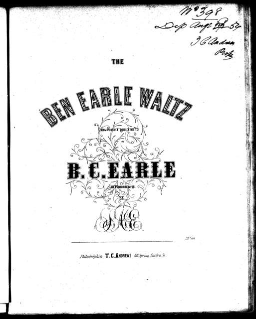 The  Ben Earle waltz