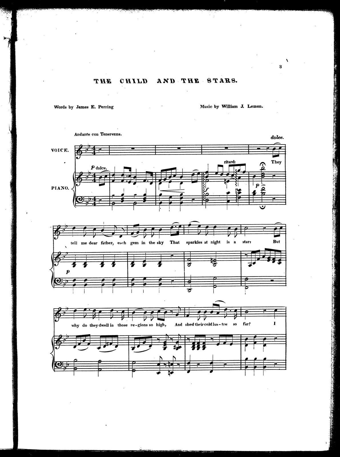 The  child and the stars, ballad