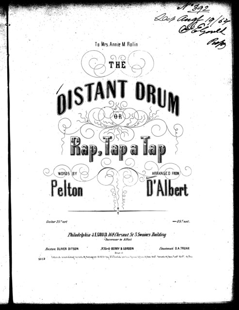 The  distant drum, or, Rap, tap a tap