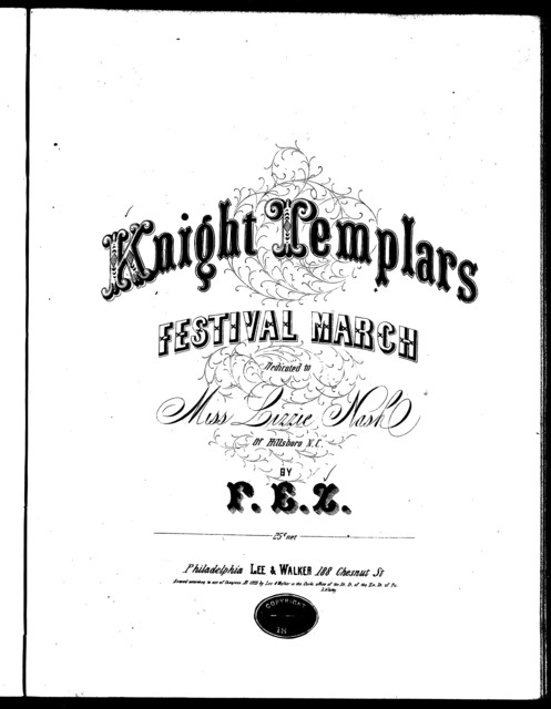 The  Knight Templars' festival march