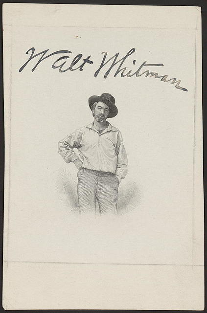 [Walt Whitman, three-quarter length portrait, facing front, as a young man, dressed in rural attire for frontispiece of Leaves of Grass]