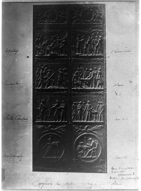 [Bronze doors for the east portico of the House wing, U.S. Capitol]