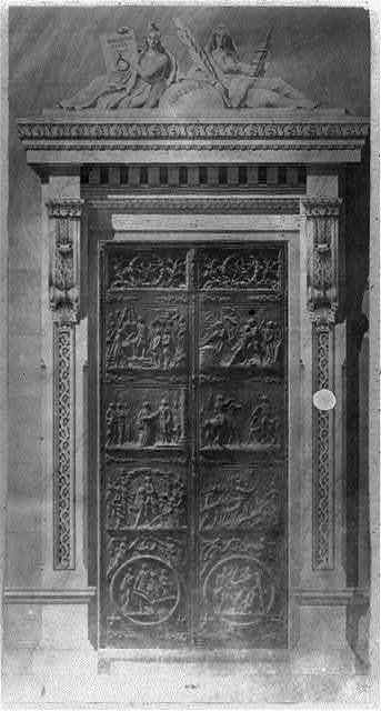 [Bronze doors for the east portico of the Senate wing, U.S. Capitol]